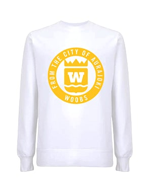 From The City Of Aurajoki, Symbol, Sweatshirt, White